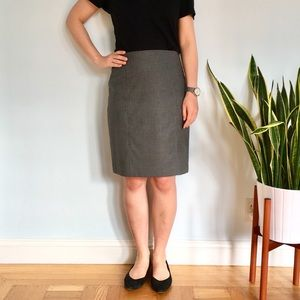 Nordstrom Seamed Gray Pencil Skirt Petite
